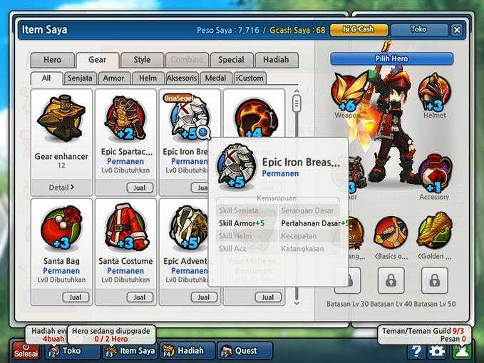 Ada yg suka Game Online Lost Saga Indo? Nih ane jual baju beton +5, GS lo . Pengen? Whisp aja ke -> AltarOfHarmony