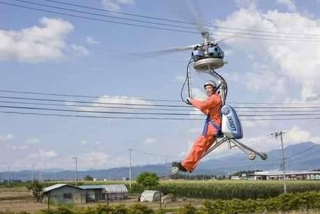 Ini lah Helicopter Terkecil Di Dunia Klick Wow Dulu yah Mungkin ini wujud nyata dari baling-baling bambu Doraemon! Helikopter terkecil ini cukup terbuka, hanya memuat tempat duduk untuk satu orang saja, dengan 3 kaki (tripod) beroda