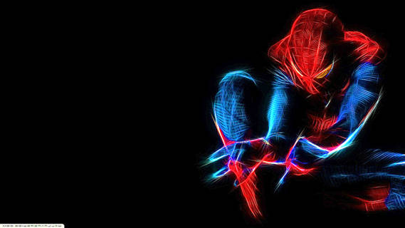The Amazing Spiderman in Luminous Effect