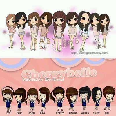 Kartun Foto CherryBelle dan SNSD lebih suka yang mana? tapi klik WOW nya dlu y :)