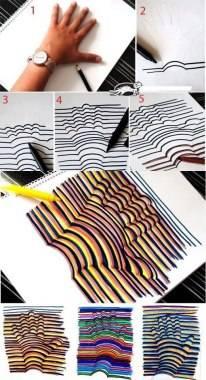 cara membuat lukisan tangan 3D