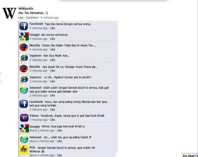 Kalau Mereka Punya FB , Pasti Lucu :D