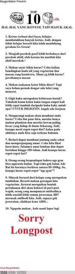 top 10 hal konyol tapi masuk akal