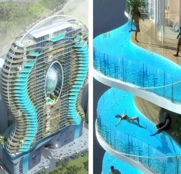 WOW.... Beauty Hotel, Boleh kali ya nyobain berenang disini o_O