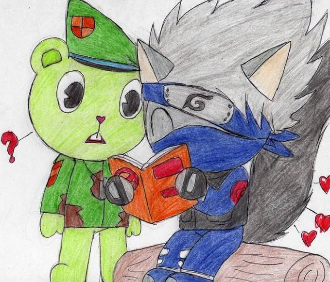 Kakashi masuk Happy Tree Friends? o_o