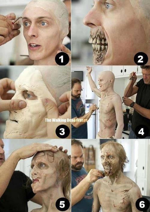 mau tahu bagaimana film2 zombie dibuat ini salah satu cara membuat zombie kelihatannya menakutkan please