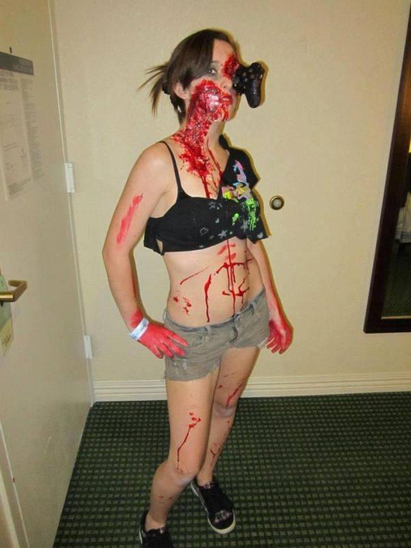 CEWEK CANTIK tapi di make up jadi Zombie , keren... , WOW.