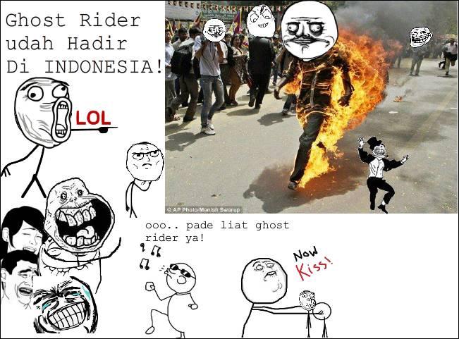 Hahhahha! Ngakak abis! Ini Asli LOOO!! Jangan Lupa WOWnya ya! Mungkin Habis ini Ghost rider ini akan sampai Di kota Kalian!