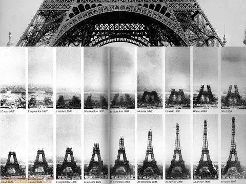 inilah gambar teknik dan tahap-tahap pembuatannya menara eiffel,,keren!klo klian suka foto ini klik WOW-nya
