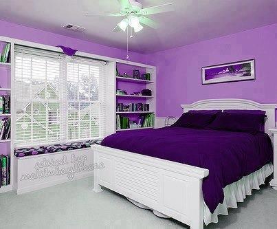 klik WOW...Jika kamu menginginkan kamar ini !!serba ungu+putih
