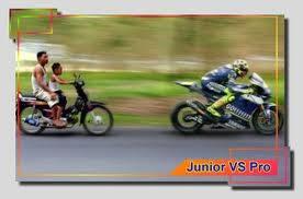 wah junior VS pro kayanya rame nich 1 klik wow dapat pahala loh...
