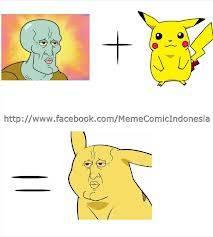 Wkwkwkwk Ini Dia Hasil Dari Squidward + Pikachu