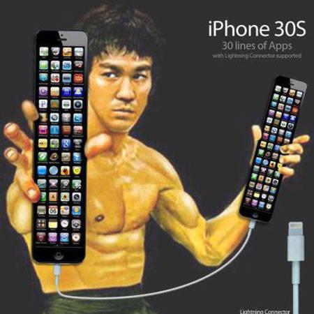 Hehehe... saking panjangnya iPhone 30S, sampe bisa dipake senjata :D