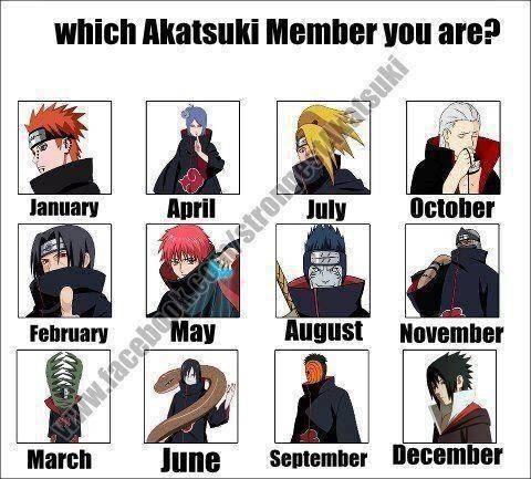 Siapa anggota akatsuki kamu....?