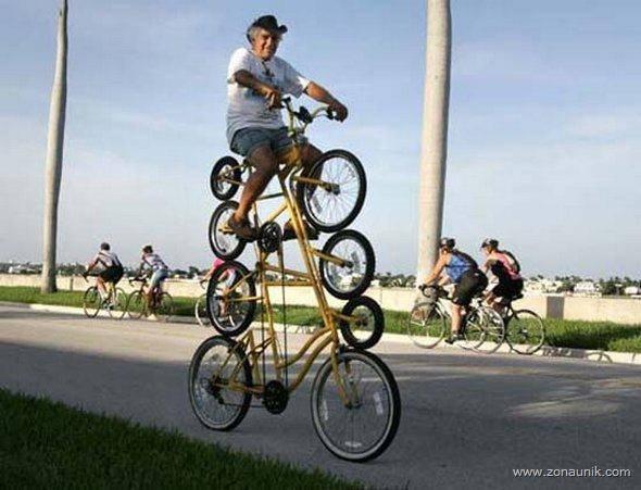 sepeda 4 tingkat... gokil broo...