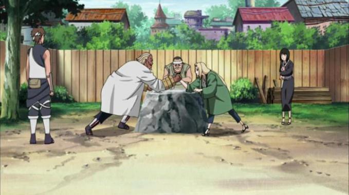 Raikage vs tsunade,, Kalo udah nonton episodenya, pasti tau siapa yang menang,, dan tau alasan nya kenapa bisa menang,, :)