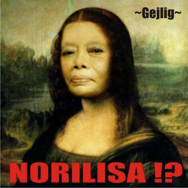 wajah asli monalisa.... yap, ternyata dia norilisa