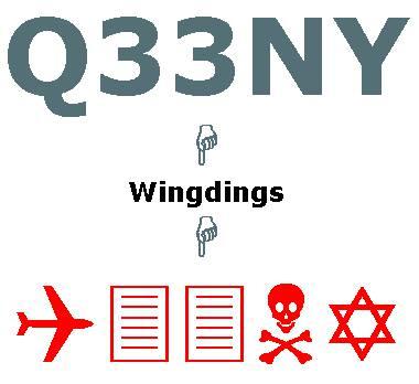 Taukah kamu plat nomor pesawat yang telah menabrak gedung WTC di Amerika serikat? Plat nomor pesawat tersebut bernomorkan Q33NY dan nomor ini mempunyai arti yang sangat mencengangkan bila diterjemahkan ke dalam program Microsoft Word. Nomor ini