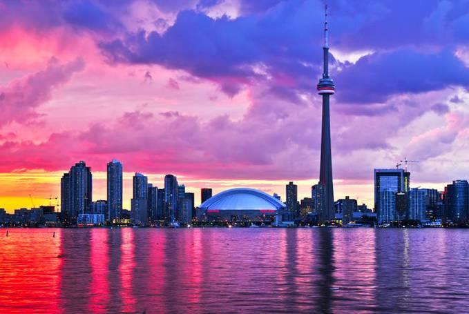 Toronto in Sunset,