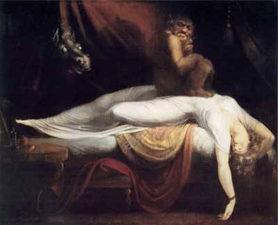 Tidur tertindih setan (Sleep Paralysis) katanya. Ketika ingin bangun dari tidur seperti ada yang nahan tubuh kita. Seluruh anggota tubuh terasa berat sekali digerakkan. Jangankan untuk menggerakkan anggota badan, membuka kelopak mata aja seteng