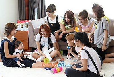 snsd and kyungsan in hello baby ..... cute gak snsd dan kyungsan?? yang sone klik wow