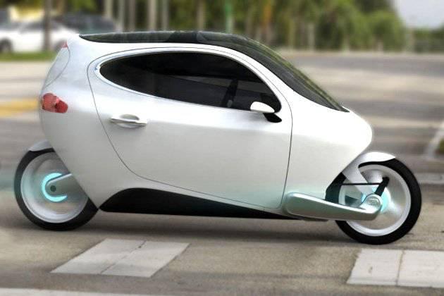 Mobil Roda Dua Digambarkan sebagai hybrid sepeda motor-mobil, C-1 Lit dua roda menggunakan satu set giroskop elektronik futuristik untuk memastikan tetap tegak dan seimbang, mirip dengan teknologi yang digunakan oleh Segway dan skuter Honda