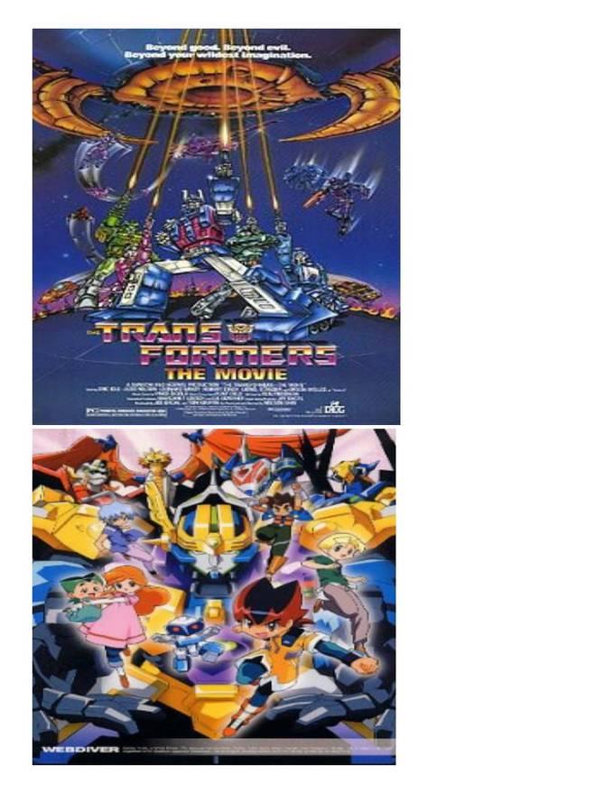 Dennou Boukenki Webdiver dan The Transformers: The Movie hampir mirip kendaraan berubah jadi robot..pertanyaannya siapa yang mencontek :D tentunya Dennou Boukenki Webdiver karena tayang tahun 2001 dan The Transformers: The Movie 1986 :D wow
