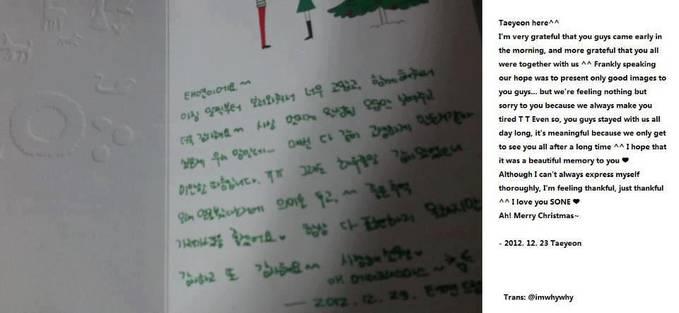 liat ini surat natal dari taeyeon untuk sone nya please klik wow ya di sebelah kiri atas ??? ok