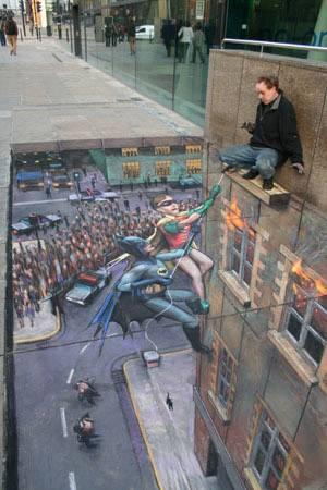 Street Painting Batman & Robin ^^