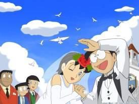 inilah ketika nobita dan shizuka nikah kalau ramantis mana WOW nya