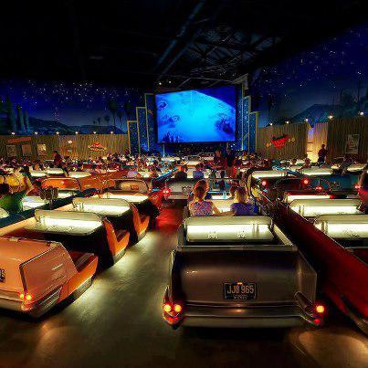 Sci-Fi Dine-In teater Restoran di Hollywood Studios, Walt Disney World, Orlando, Florida, Anda berada di sana?