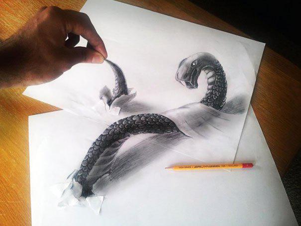 WOW !!! Lukisan 3D dari pensil :)