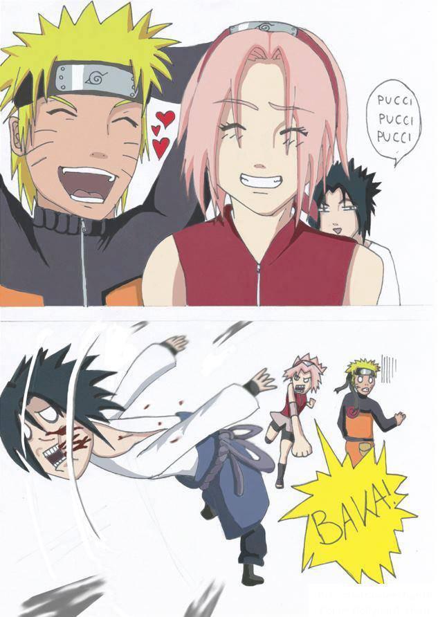 Naruto dan sakura lagi kencan... Sasuke lagi ganggu mereka, beginilah jadinya... WOW ok ;)