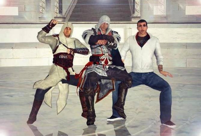 di dunia Assassins Creed juga tersebar demam Gangnam Style WOW nya donk... :D