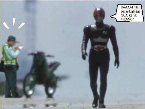 satria bajai hitam pun juga kna tilang ama polisi gara gara gk ada plat motor!!!