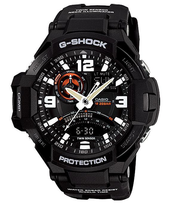 "Casio G-Shock GA-1000-1AJF Watch – ""Sky Cockpit"" Collection."