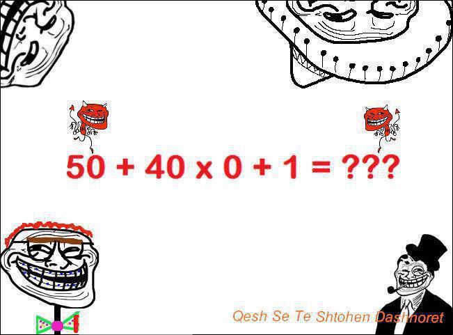 Ayo Coba Jawab Cepat,Masa Di Beri 1 Minit Aja Untuk Jawab :D Tunjukkan Kepinteran Kalian ^__^ Sebelum Jawab,Klik WOW Dulu.