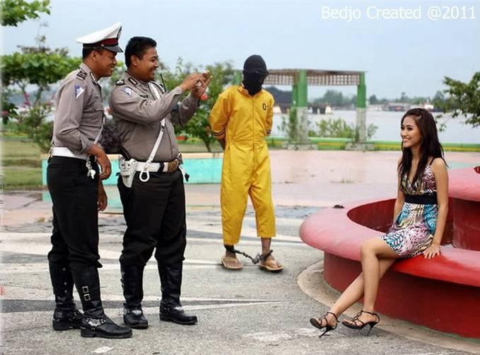 Urusan penjahat no. 298....... cewek cantik harus no. 1.......(lebih penting)..!!!???