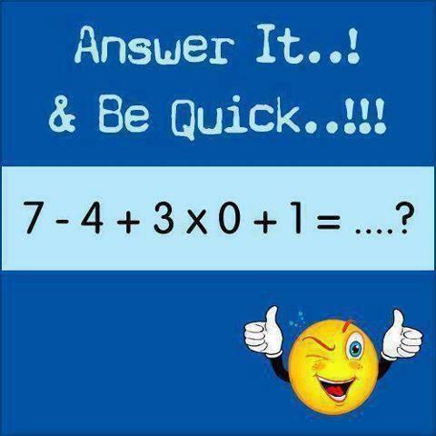 ::TEST MATEMATIKA:: Buat Para Pulskers Ayo Coba Jawab Cepat,Masa Di Beri 1 Menit Aja Untuk Jawab :D Tunjukkan Kepinteran Kalian ^__^ -=-=-=-=-=-=-=-=-=-=-=-=-=-=-=- •? WOW   COMMENT   SHARE ?• -=-=-=-=-=-=-=-=-=-=-=-=-=-=- Bagi yang jago