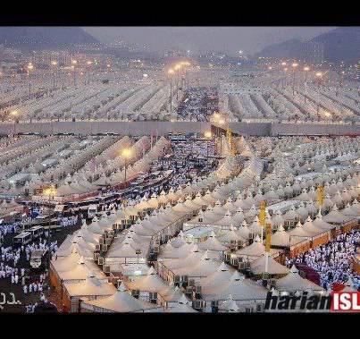 MasyaAllah, suasana di Mina, Makkah. Antara Bandar TERBESAR DI DUNIA.