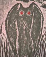 Mothman adalah salah satu urban legend yang cukup terkenal di daerah Virginia. Mothman digambarkan adalah mahluk bersayap dan setinggi manusia, bermata merah, kadang muncul tanpa kepala dan mata merahnya ada di dada. Ihh serem. WOW