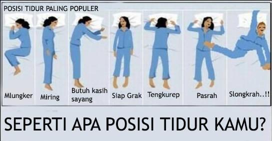 posisi tidur manakah yg paling kamu suka...?