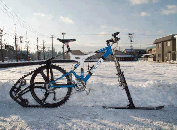 WOW... nice desing..a bike for snow days