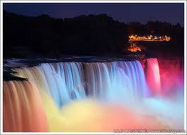 her nice colorful waterfall