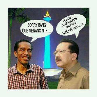 Saat Pak Jokowi lagi berdebat dengan Pak Fauzi Bowo.
