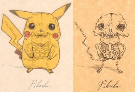 ternyata pikachu punya tulang juga.......