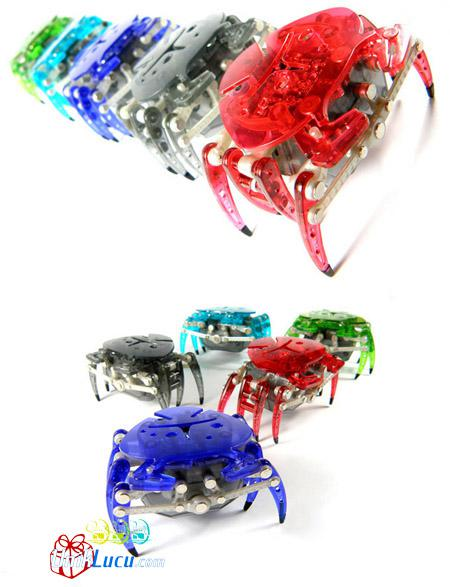 HEX BUG kepiting ini dapat berjalan seperti kepiting pd umumnya, dan akan berhenti jika berada di tempat yg gelap, kita dapat membuatnya berjalan lg atau mengubah arah jalannya dengan suara tepukan tangan. unik yah sobat pulsker ^_^