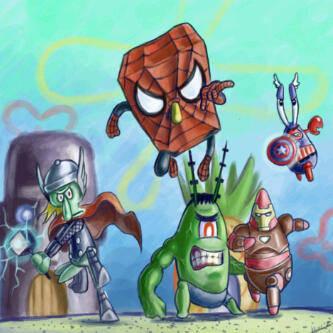 Avengers Bikini Bottom