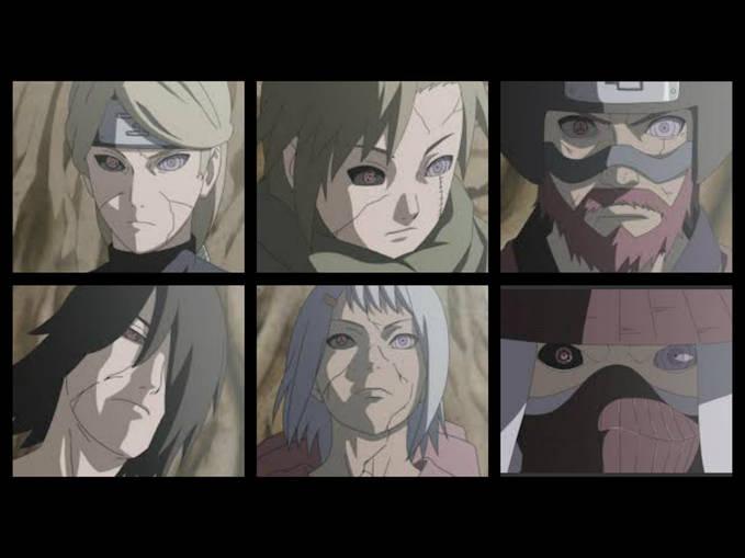 inilah edo tensei ke 6 jinchuuriki yang sudah mati,, tidak hanya di manga saja,, di anime juga ada. please WOW nya :)
