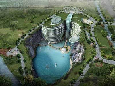 nice............... Hotel yang terletak di daerah Songjiang, dekat dengan Shanghai adalah hotel yang dibangun di daerah lembah atau jurang dengan kedalaman sekitar 100 meter.